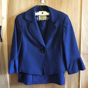 Rich Blue Vintage Mary Kay Skirt Suit